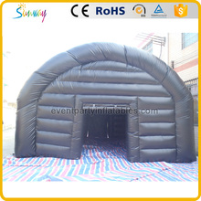 Applied black color inflatable army military tent with rooms