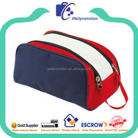 Wellpromotion cheap promotional polyester zipper toilet cosmetic bag for man