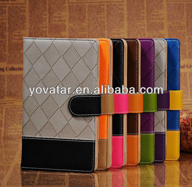 Premium Stand Buckle Suede PU Leather Case Cover for New Apple iPad mini