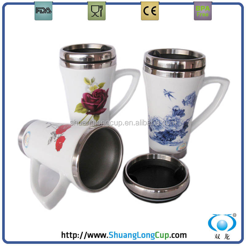 16oz 450ml wei china promotion keramik becher mit deckel. Black Bedroom Furniture Sets. Home Design Ideas
