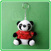 HI EN71 standard wholesale used soft toys plush panda keychain