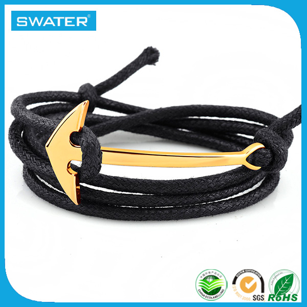 High Quality Anchor Rope Bracelet With Stainless Steel