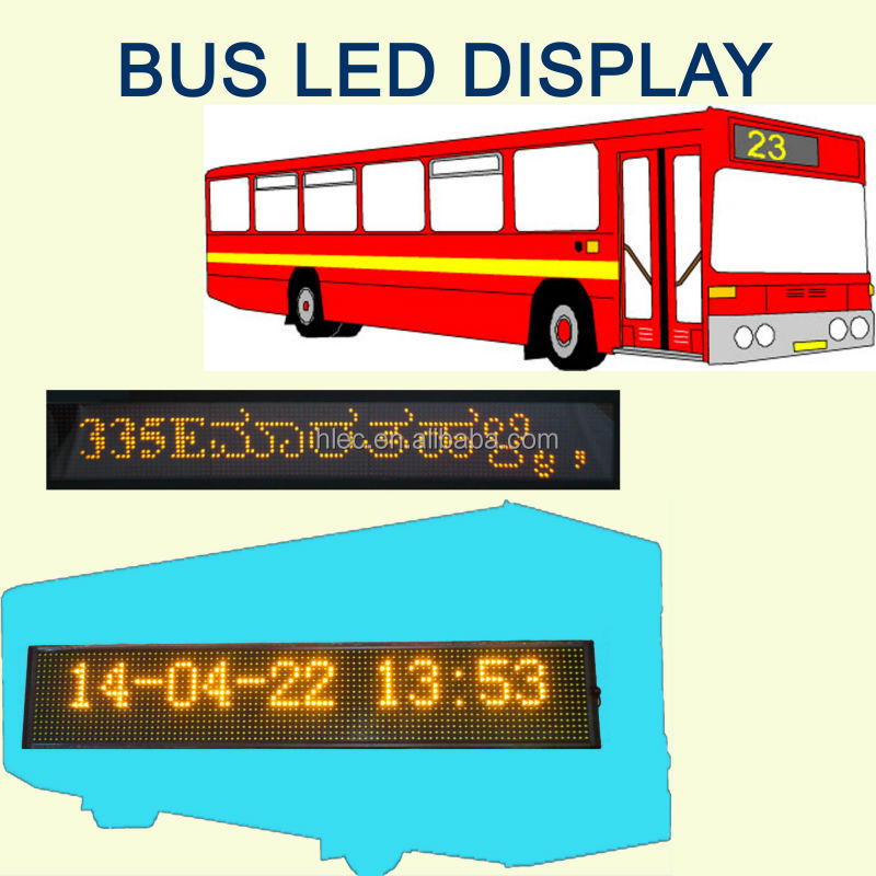 <strong>Amber</strong> LED bus sign display Car sign/ vehicle sign display
