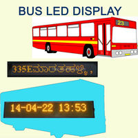Amber LED bus sign display Car sign/ vehicle sign display