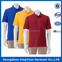 Custom Polo Shirt Bulk Men's Thick Red Polo t shirt with Black Collar OEM