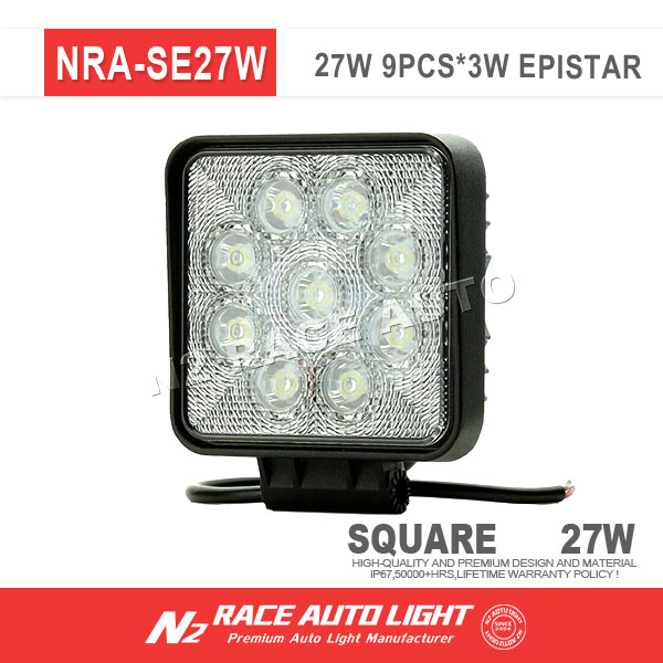 N2 RACE AUTO Super Bright 12V 27W Aluminum Housing Led Work Light in Auto Lighting System for Utility Vehicle