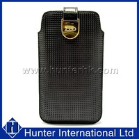 Porous PU Leather Pull Up Pouch For Samsung Note3