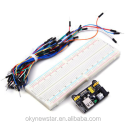 3.3V5V Breadboard power module 830 points Bread board 65 Flexible jumper wires