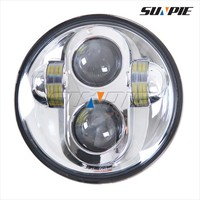 4x4 accessories 40w 5.75 inch round led off road motorcycle headlight for jeep wrangler