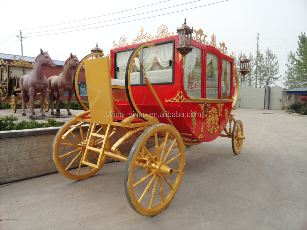 Yizhinuo 4 wheels Royal Horse Carriage/Horse Cart for sale