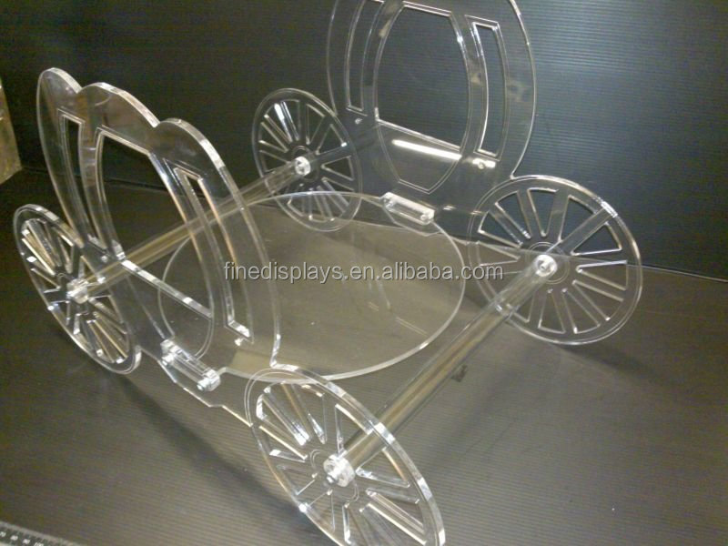 Acrylic cinderella carriage wedding cake stand (FD-A-376)