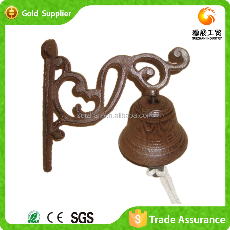 Factory Wholesale Hanging Wall Decor Cast Iron Metal Dinner Bell