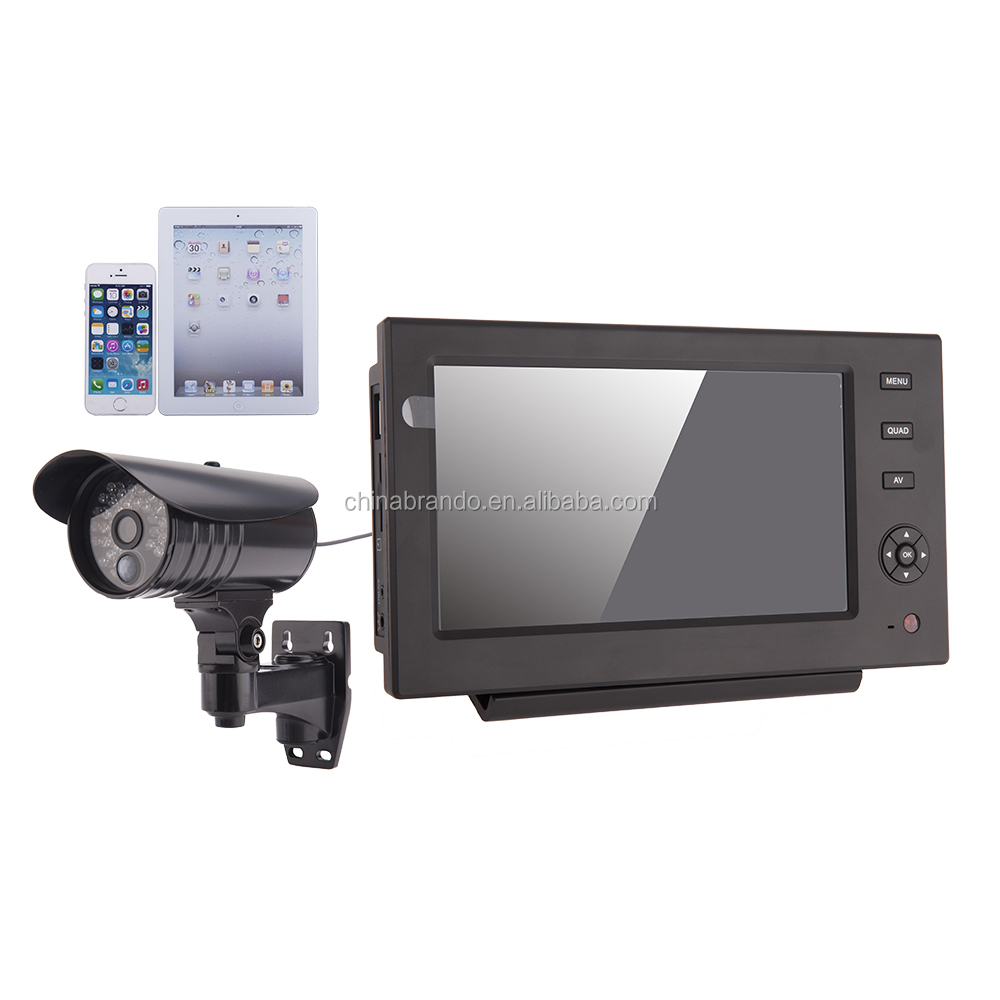 Wireless CCTV Camera With 7 inch Recordable Monitor