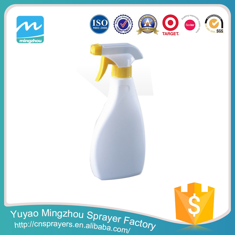 Manufacturer Professional Good Material High Level White And Yellow MZ-A01 Plastic Cleaner Bottle