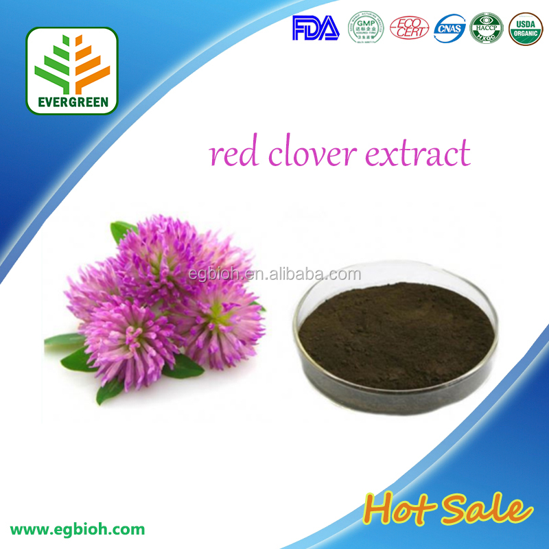 FDA,KOSHER Certificated Red Clover Extract Powder 2.5%-40.0% for Antisepsis, anti-inflammation