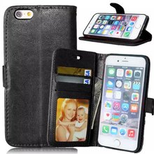 For Apple iPhone6 6S Magnetic Flip PU Leather Wallet Case with Photo Frame Card Holder Smart Stand fundas 4G Mobile Phone Cover