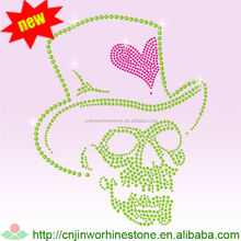 Crystal Korean Strass Motif Skull with Flower Rhinestone Transfer Wholesale in China skull (101)