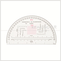 Kearing 9 inch High Quality Royal artillery military half moon protractor #KMP-3