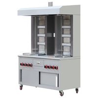 Double Row Gas Shawarma Machine With