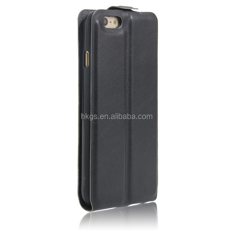 Classic Vertical Cover For iPhone 6 6s Flip Case With Card Slot Black