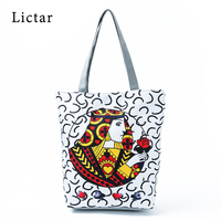 Canvas Tote Bag Lady Hand Beach Carry Bag