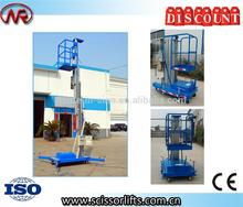 hydraulic single mast man lift table home elevator lift