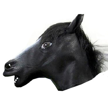 Halloween Masquerade party animal mask latex rubber color horse head unicorn mask