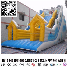 New inflatable christmas slide, kids winter inflatable bouncer,snow theme slide for winter