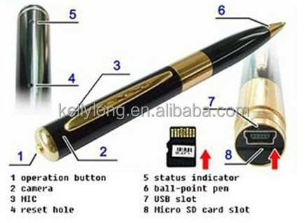 wholesale top selling hidden pen camera in meetingroom HD Mini Pen Camera /Pen DVR /Digital Pen Video Recorder JUE-013