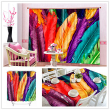Superoir Colorful Strong Design 3D Polyester Tablecloth With Feathers , Shower Curtain , Window Curtain With Living Room