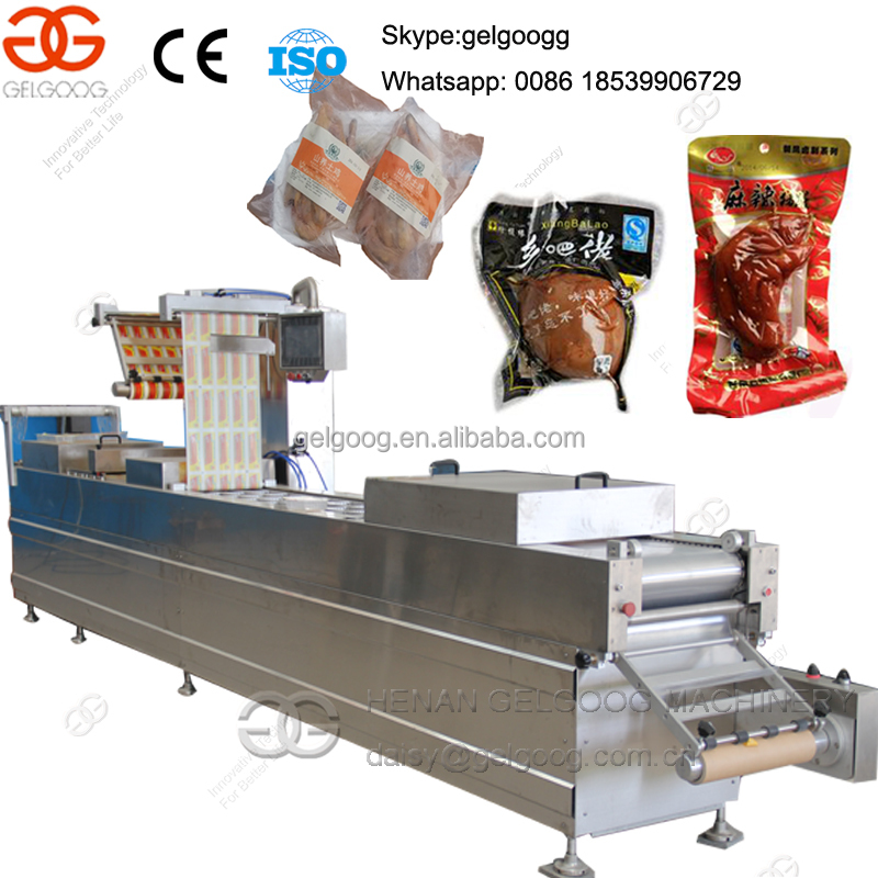 Stretch film Ham Cheese Sausage Vacuum packaging machine