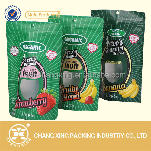 Factory price resealable stand up pouch with zipper for freeze dried fruit packing / plastic freeze bag for frozen food