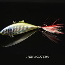 8.5cm 11g ABS plastic hard vib fishing lure with hook
