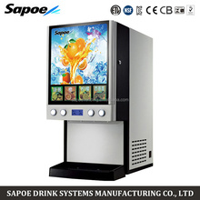 Sapoe SJ-71404L hot and cold 4 flavors electric dispenser beverage for restaurant and hotel