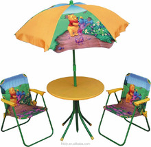 Folding Kids Patio Set/ Kids Outdoor Furniture/Table And Chairs Set