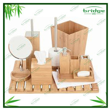 bathroom accessory set for home and hltel durable modern decorative natural color bath set