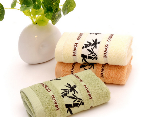 High quality 35*75cm dobby Softtextile organic bamboo face towel