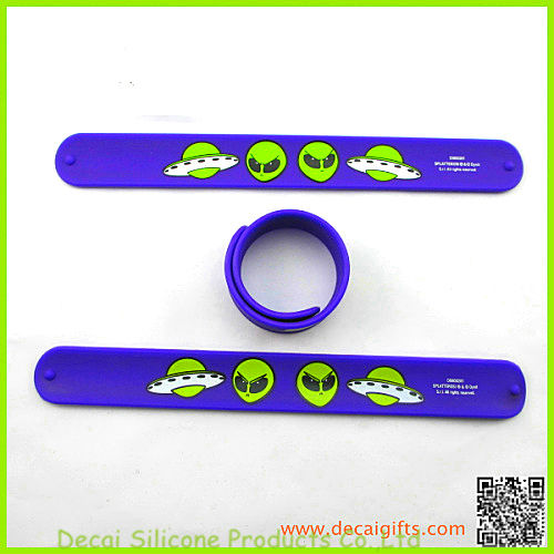 Promotion Silicone Slap wristband ,rubber slap bracelet wrist band