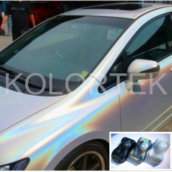 Spectraflair holographic pigment powder, KOLORTEK holographic pigment powder for car painting