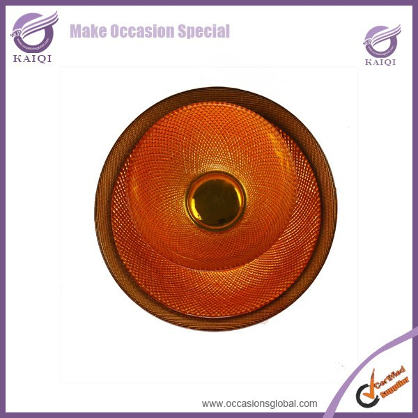 18114 2015 new style burnt orange wedding charger plate wholesale
