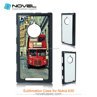 Sublimation plastic mobile phone covers for Nokia Lumia 830, 2D customzied phone cases
