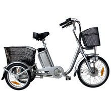 Green electro tricycles with baskets tricycle electrique