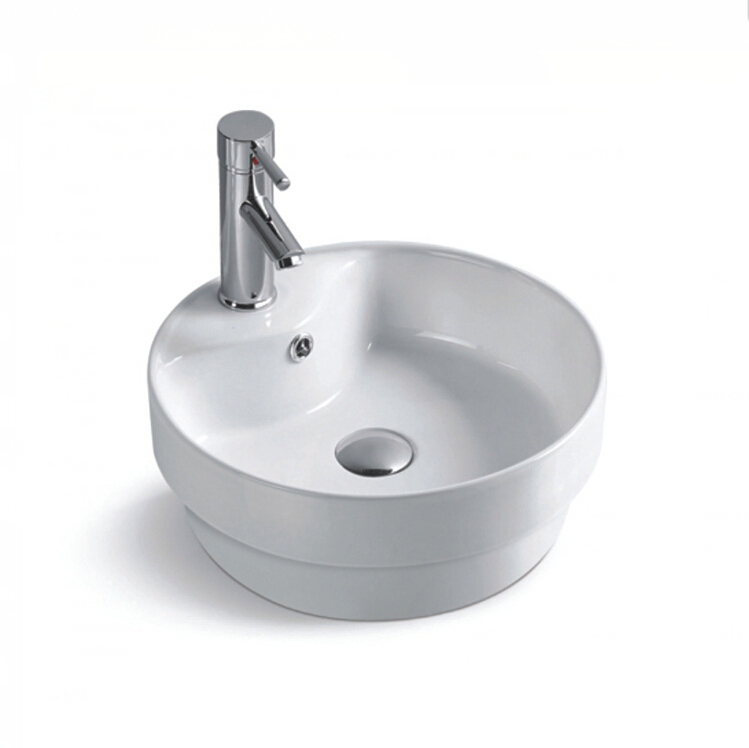 S2015 Grade A made in china above counter porcelain bathroom sink