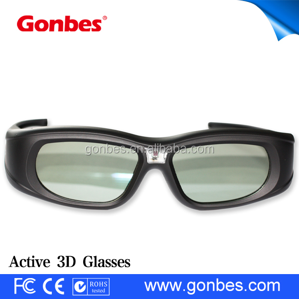 Light and cheap button battery dlp link 3d active shutter glasses