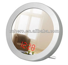 Beauty LED bathroom acrylic mirror wall clock