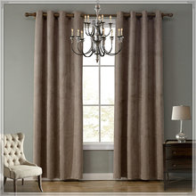 Big quantity project hotel brown velvet curtains