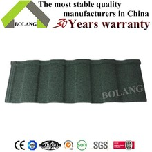 building construction material sun stone coated metal roof tile