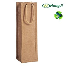 China manufacture gift paper bag brown kraft wine paper bag