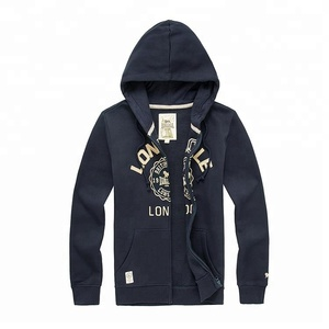 Promotional top quality China wholesale full zip hoodie zip
