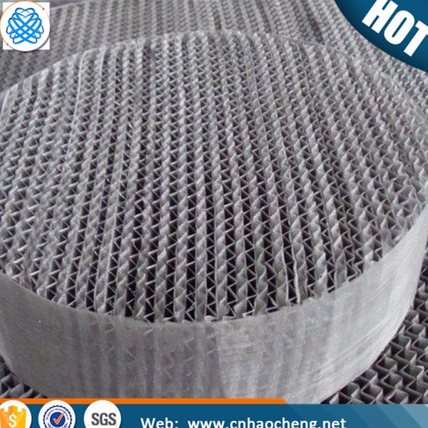Distillation column packing stainless steel wire gauze structured packing